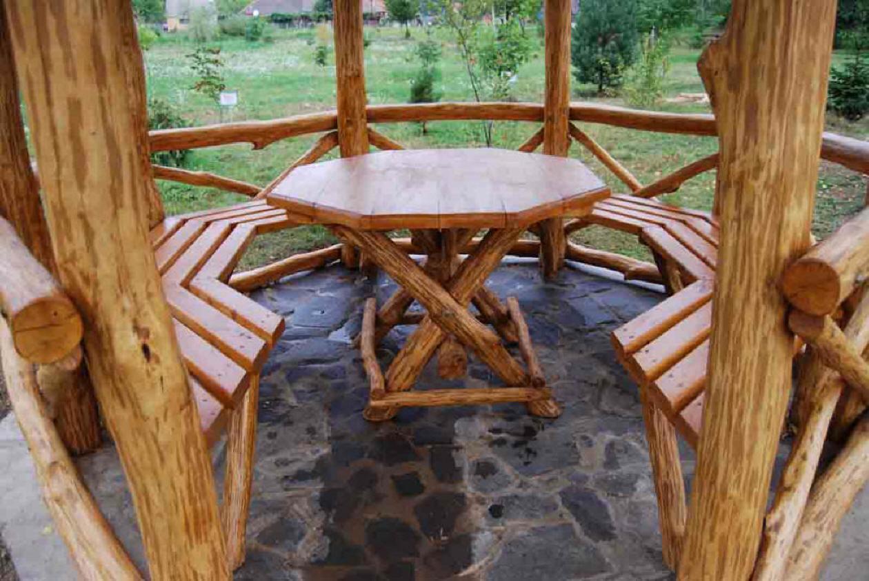 Как сделать стол и стулья в беседку